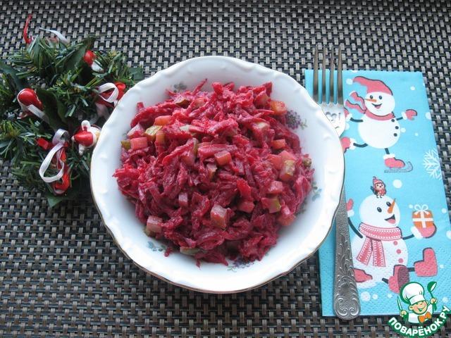 Салат из свеклы и соленого огурца с фото очень вкусный