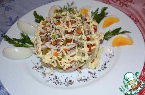 105 Праздничные салаты с кальмарами рецепты