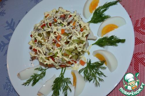 новые рецепты салатов с кальмарами