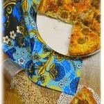 Пирог творожный с фрикадельками