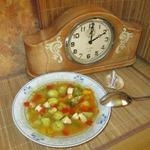 Суп с клёцками из кукурузной муки