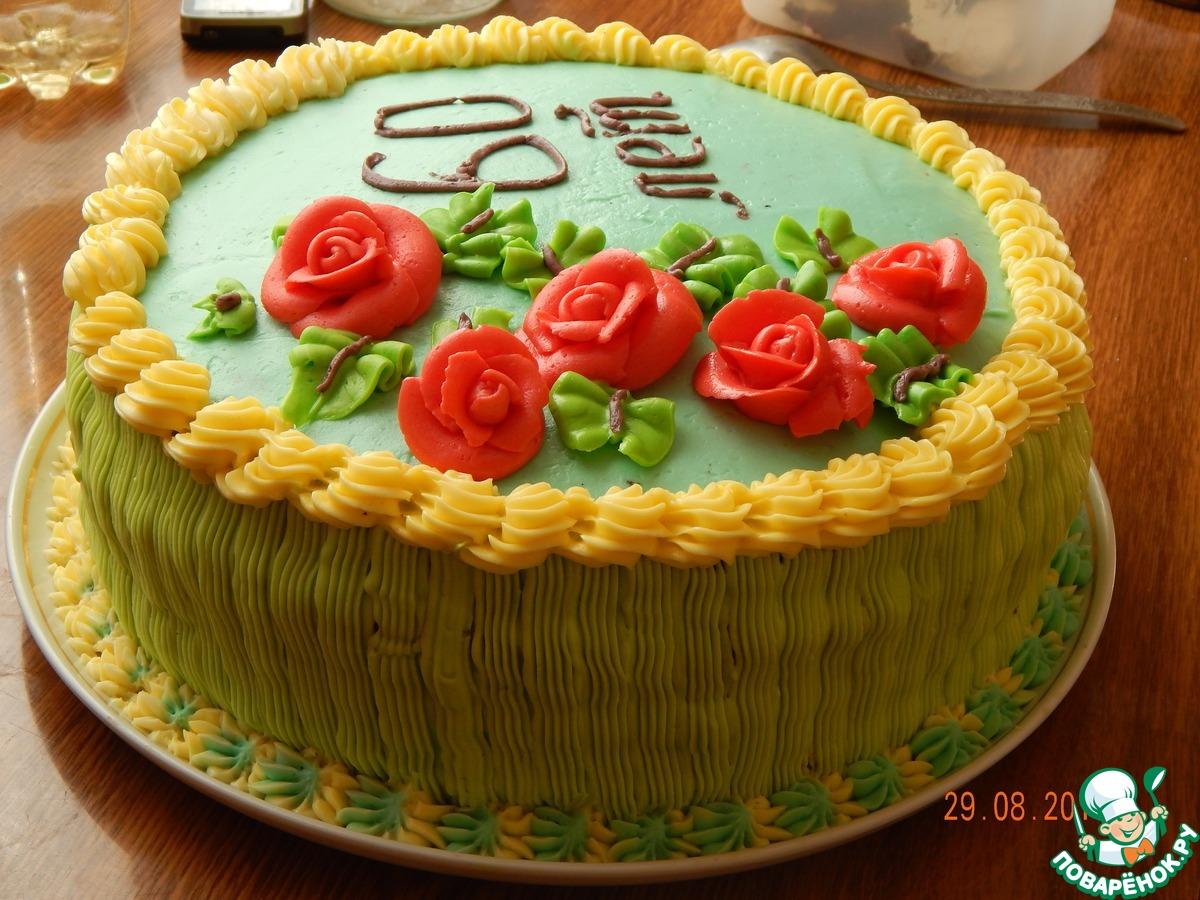 Торт с белковым кремом для ребенка фото