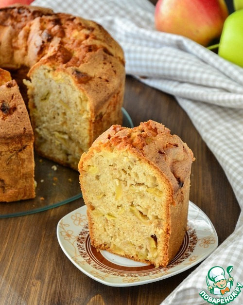 кекс яблочный рецепт с фото