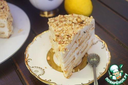 """Творожный торт """"Наполеон"""" со сливочно-творожным кремом"""
