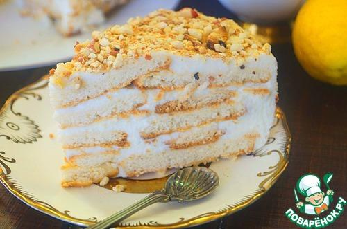 Сливочно-творожный торт с фото пошагово