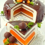 """Шоколадно-мандариновый торт """"Вкус праздника"""""""