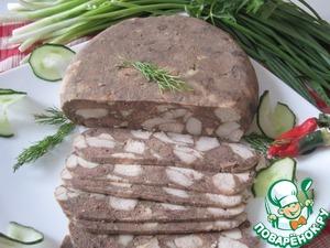Мясо прессованное в чулке
