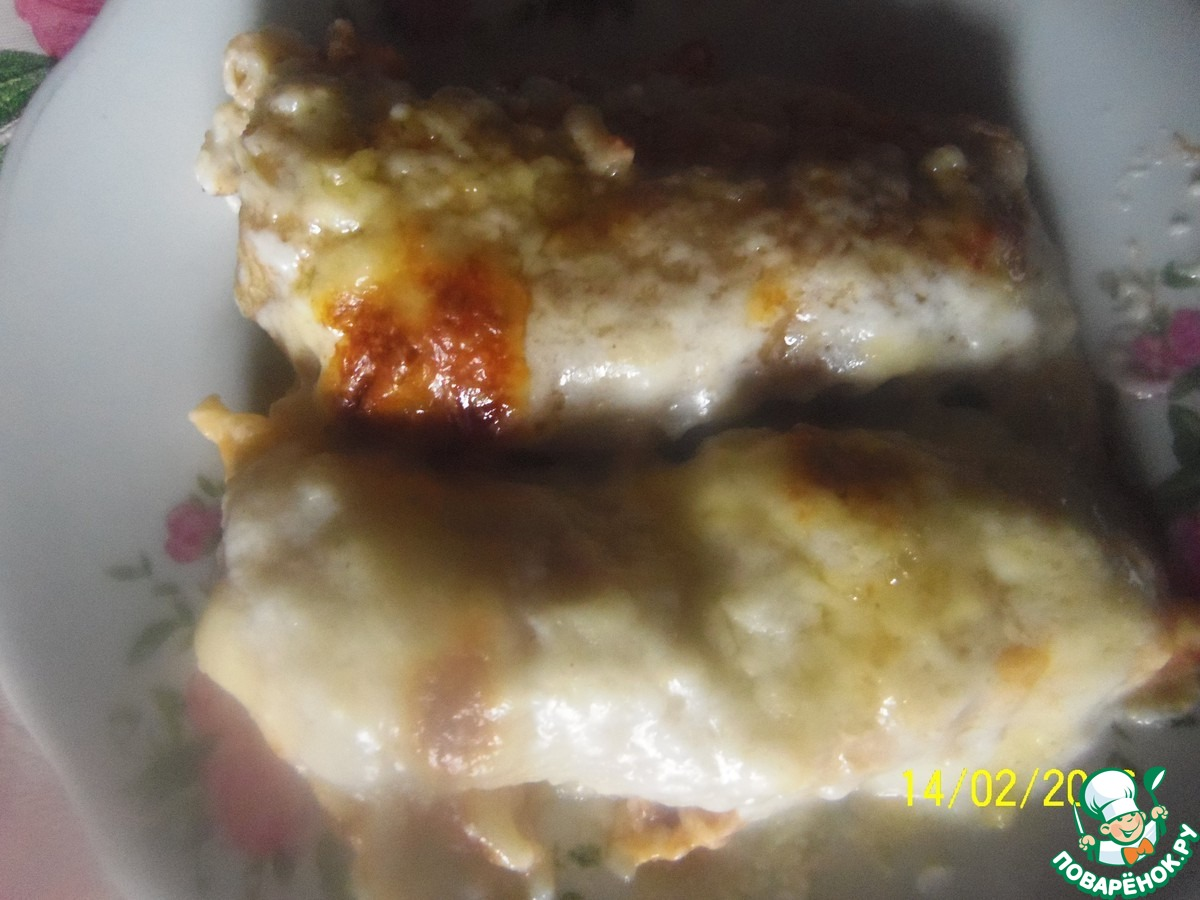 Каннеллони с фаршем рецепт с фото пошагово в духовке со сливками