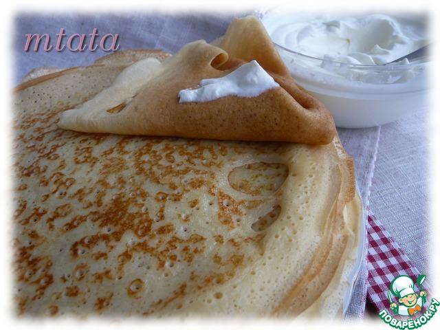 Как сделать тесто для тонких блинов на молоке