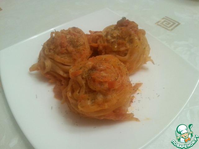 Гнезда с куриным фаршем рецепт
