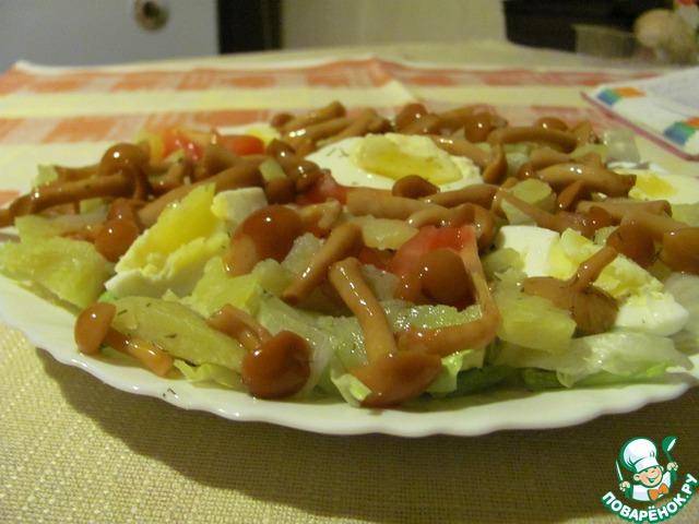 Рецепт салата с опятами маринованными 17