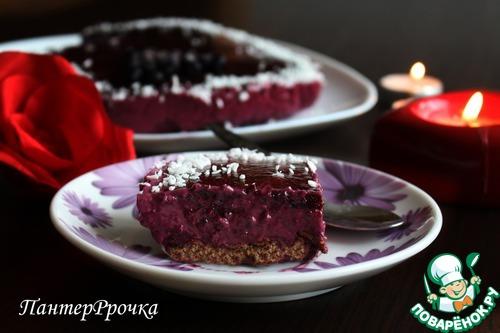 Ягодный торт с хрустящей основой