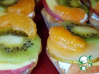 Корзиночки с фруктами рецепт