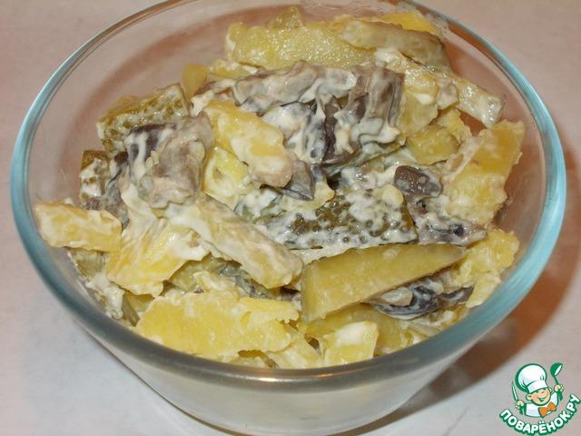 Фото салата грибное лукошко