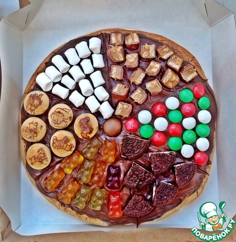 рецепт сладкой пиццы в духовке
