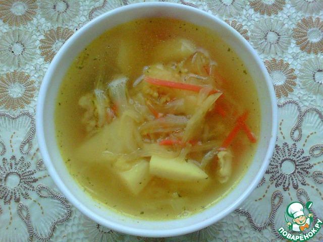 Суп из красной рыбы и пшена рецепт