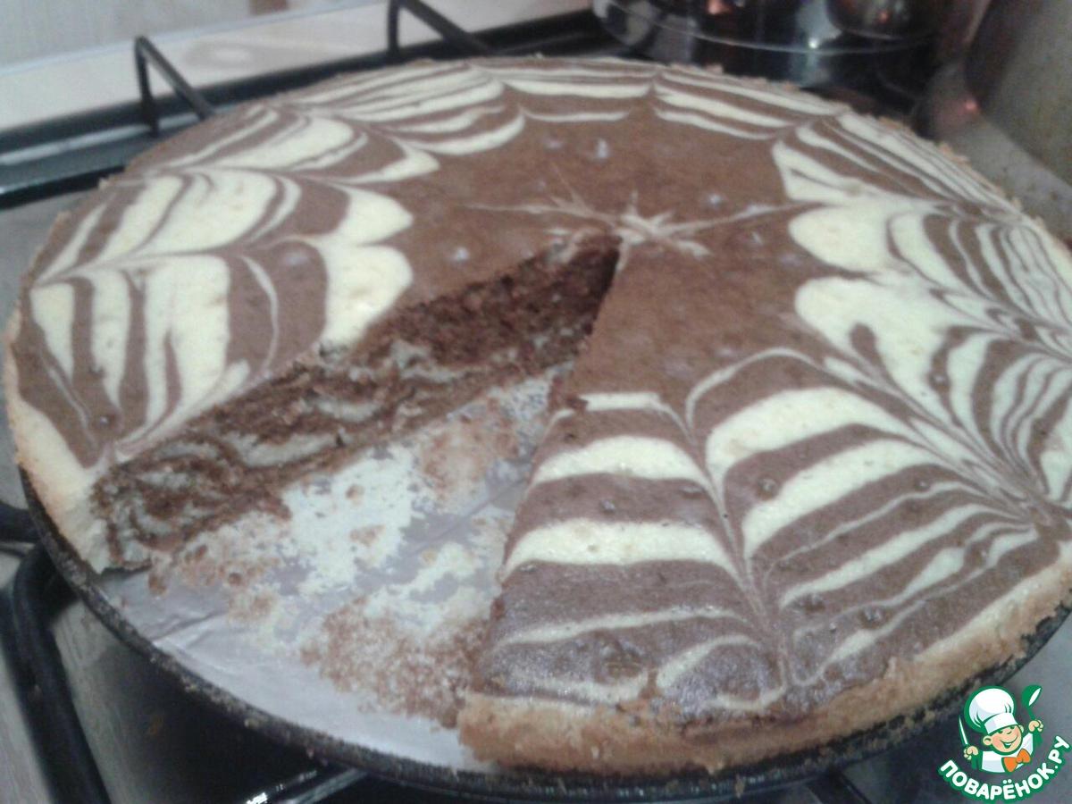 Пирог зебра с молоком рецепт пошагово в домашних