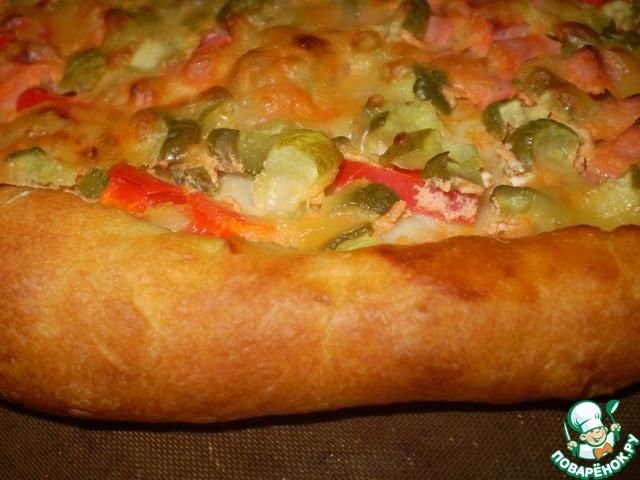 Тонкая пицца поваренок
