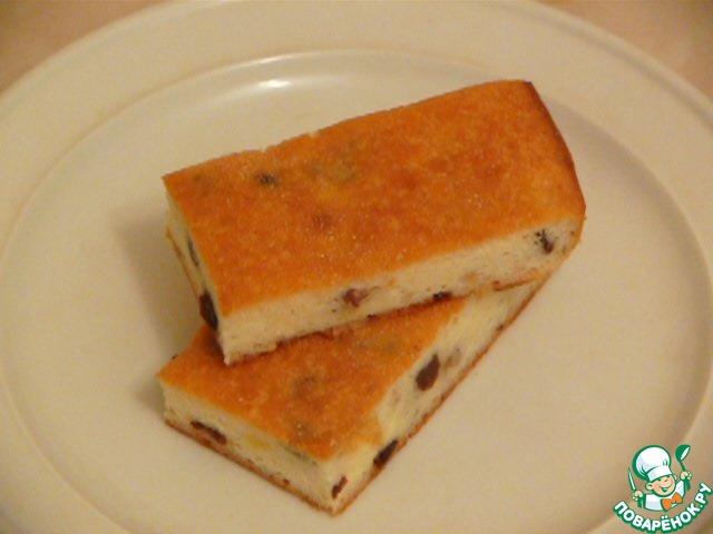 Творожная запеканка с изюмом и манкой рецепт с пошагово
