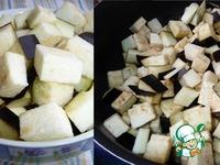 Куриные сердечки с баклажанами и сыром ингредиенты