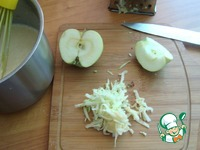 Блины с яблочным припёком фаршированные ингредиенты
