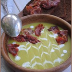 Гороховый суп-пюре с хамоном