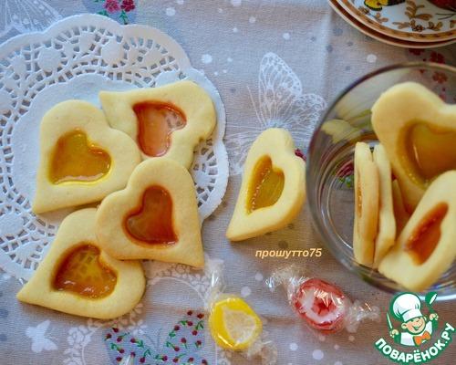 Печенье с леденцами