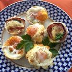 """Запечённые яйца """"Воскресные"""" за 15 минут"""