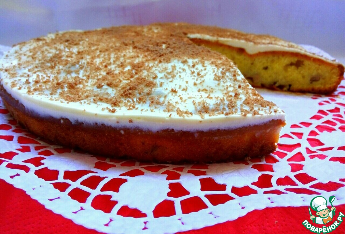 Пирог открытый с бананами