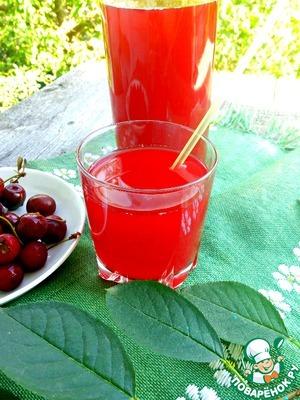Рецепт: Морс из вишни и малины