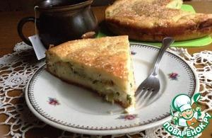 Рецепт: Заливной пирог с молодой капустой