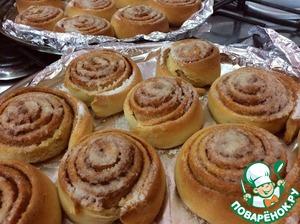 Рецепт: Шведские булочки с корицей