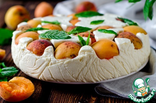 Торт-мусс с абрикосами и сыром