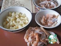 Рыбный суп из брюшек лосося ингредиенты