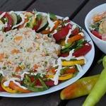 Теплый салат из цуккини