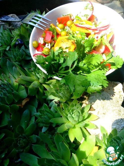 Салаты из овощей на обед быстро и