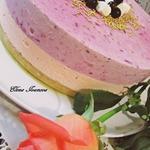 Торт-парфе Смородиновые облака