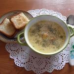 Сырный суп с куриной грудкой