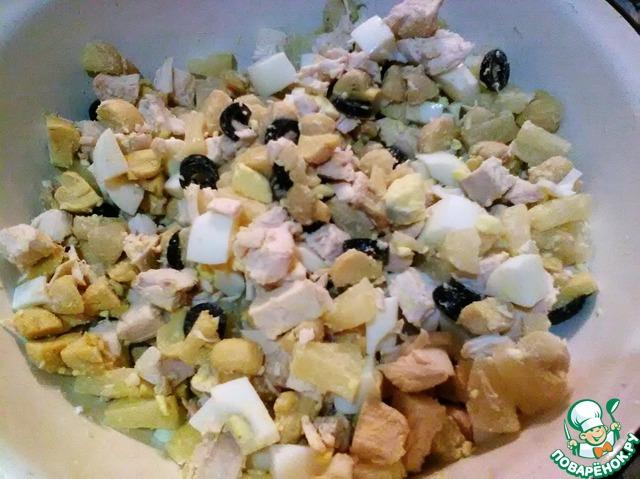 Как приготовить постный салат с кальмарами