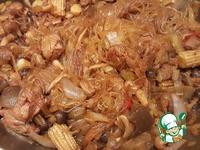 Свинина с шимиджи и фунчозой ингредиенты