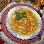 """Куриный суп с яичными блинчиками """"Моментальный"""""""