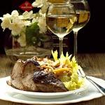 Салат с утиной грудкой и белыми грибами
