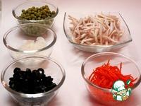 """Салат """"Деликатесный"""" с кальмарами ингредиенты"""