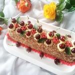 Сливочный шоколадно-вишневый торт