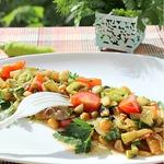 Теплый салат для летнего вечера