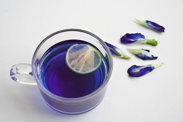синий чай фото