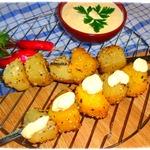 Картофельный шашлык в кунжуте