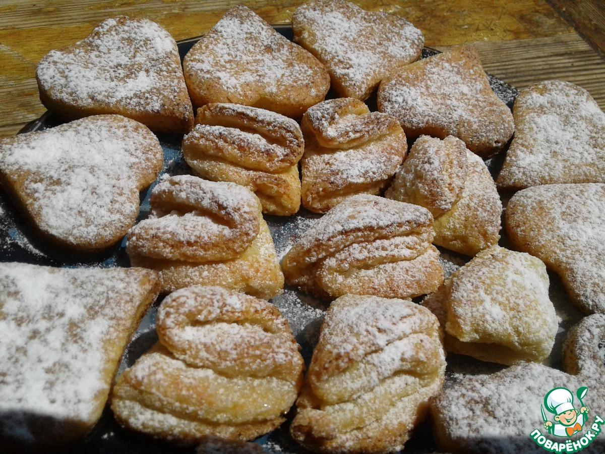 Пошаговый фото рецепт печенья с творогом