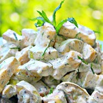 Диетический салат-закуска из кабачков