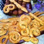Печенье с креветками к пиву